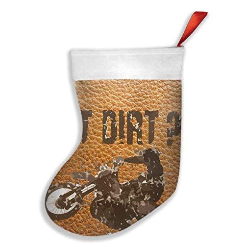 hfdff Neu Got Dirt Bike Motorcross Racing Einzigartige Weihnachtsstrümpfe Xmas Party Mantel Dekorationen Ornamente für Dekoration Kinder Geschenk Halten Strumpf Baum Ornament 16,5 X 10,2 Zoll