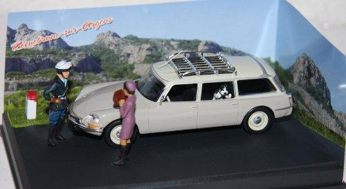 ALTAYA-LA ROUTE BLEUE- CITROEN DS / ID 20 Break - (grau) Diorama - Modellauto, Fertigmodell, 1:43