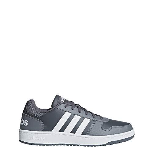 pretty nice 31621 f3931 adidas Hoops 2.0, Scarpe da Basket Uomo, Grigio Grefiv Ftwwht Grethr,