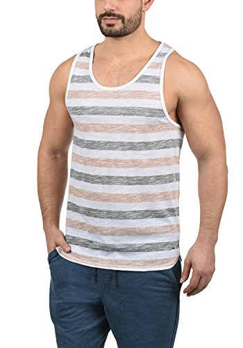 !Solid Mende Herren Tank Top Mit Rundhalsausschnitt Regular Fit, Größe:XL, Farbe:Mahog. Rose (4203)