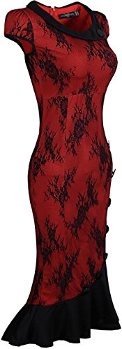 Jeansian Femme Sexy Cocktail Party Fashion Crayon Casual Slim Robes WKD183 WineRed
