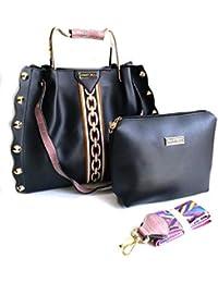 Generic Women's Leather Handbag With Sling Bag Combo (KC-1)