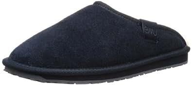 Emu Clifton ,M10012,Herren Slipper,Schwarz,Midnight Blue,EU 47 (UK 12) (US 13)