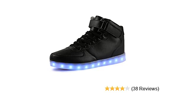 f955334493b07 TULUO Kid & Men & Woman USB Charging LED 7 Colors Light High Top Sneakers  Light Shoes: Amazon.co.uk: Shoes & Bags