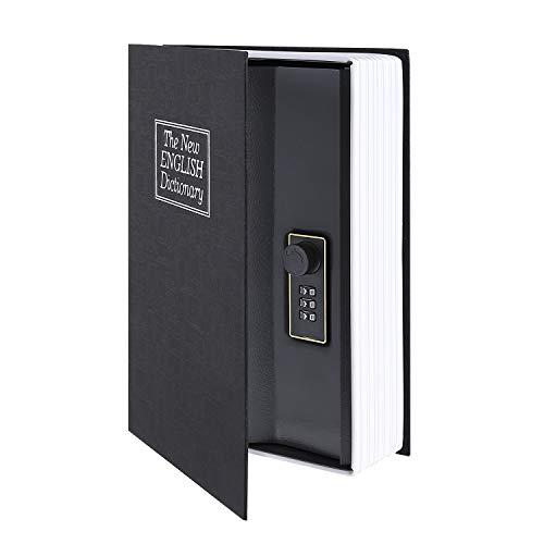 Ohuhu Caja de seguridad en forma de libro - Cerradura con Combinación, Caja Fuerte Portátil, Ideal...