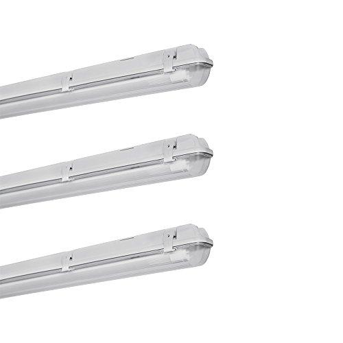 Osram 4058075093737 Lot de 3 Luminaires LED, Verre, GU10, 17 W, Gris, 126.5 x 7.2 x 8.6 cm