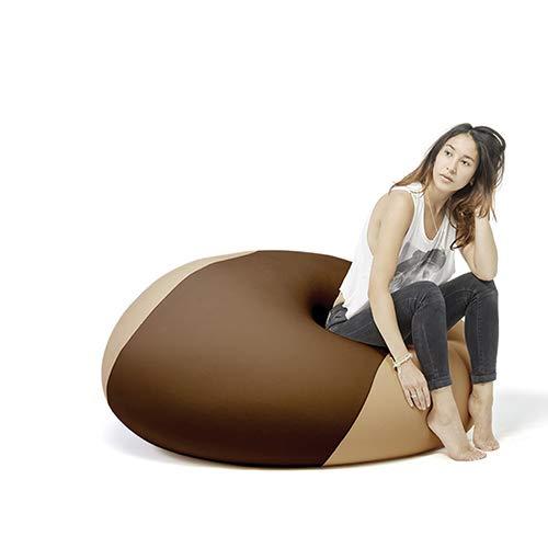 Terapy - OLLIE Relax Indoor Sitzsack - Sitzkissen, 100x100x80cm in braun / sand
