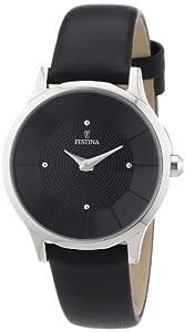 Reloj Festina F16661/4 de cuarzo para mujer con correa de piel, color negro de Festina