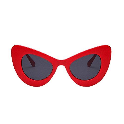 Honestyi Frauen klassische Cat Eye große übergroße dicke gotische Kunststoff Vintage Sonnenbrille Sonnenbrille, Katzenauge, Brille # 5141