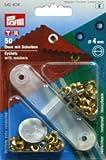 Prym Ringösen, 4 mm, plus Unterlegscheiben, goldfarben, 50Stück