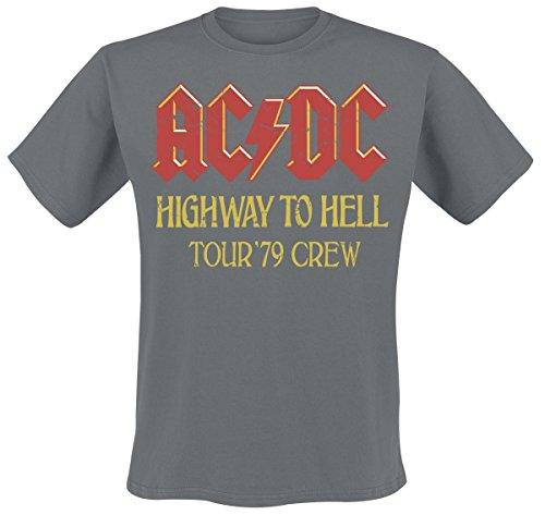 AC/DC USA Tour 1979 Crew T-Shirt Charcoal XL (Ac-dc-crew-t-shirts)