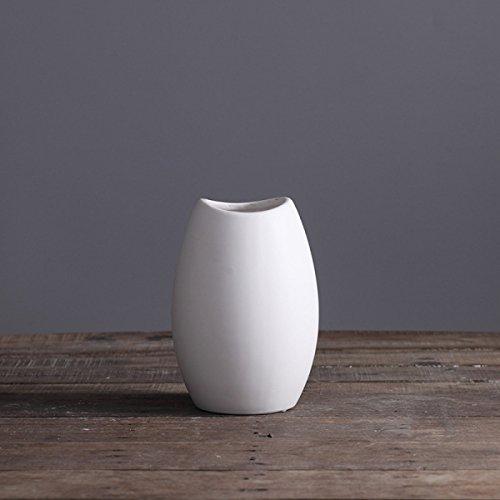 Weiß Matt Einfach Kreativ Modern Im Europäischen Stil Kunst Und Handwerk Stil Keramik Geschenke Vasen Dekoration,A (Handwerk Vase)