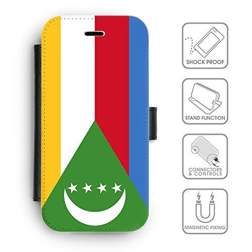 Delle cellule Phone Card Slot cassa del raccoglitore di cuoio // V00001092 Comore Paese Nazionale (Pronto Basamento Della Bandiera)