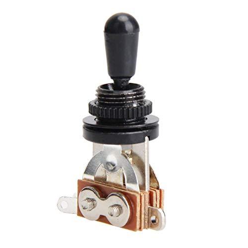 SH-Flying Schalter für Gitarrenschalter, 3-Wege-Kippschalter Tonabnehmer-Wahlschalter aus Metall mit Tip-Knopf E-Gitarre 3-Gang-Schalter SG 3-Gang-Tonwertumschaltung -