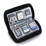 AAQwsde Dauerhaft SD-Speicherkarte mit Slots Handytasche (22 Slots schwarz) (Farbe : Black)