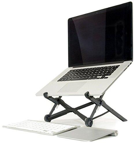 Premium Laptop Stand - Super leichter und ergonomisch einstellbarer Laptopständer - Ideal für Reisen - höhenverstellbarer Laptophalter fördert gute Körperhaltung, unterstützt effektives Arbeiten (Reise-laptop-tisch)