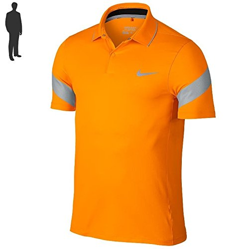 Nike MM Fly Framing Commander - Polo, Herren, Farbe Orange, Größe S