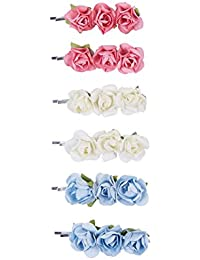 Accessorize Lot de 6épingles à cheveux motif boutons de fleurs - Femme