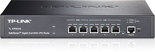 TP-Link TL-ER6020 SafeStream Gigabit-Dual-WAN-VPN-Router (2-Port WAN, 2-Port LAN, 1-Port LAN/DMZ)