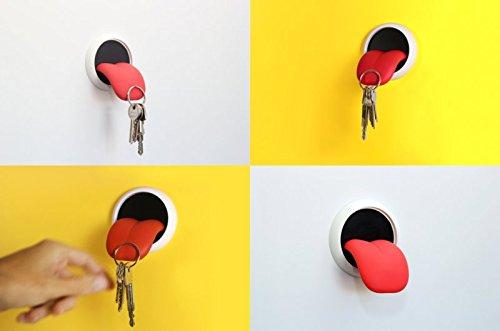 Supporto magnetico portachiavi, a forma di lingua