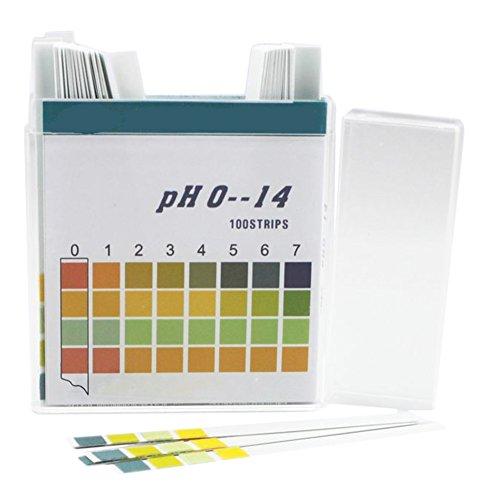 Chytaii PH Teststreifen PH Testpapier Lackmuspapier 0-14 100 Stücke für Wasser Boden Urin Speichel