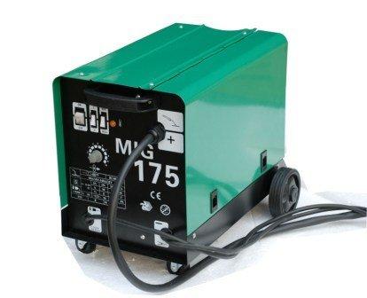 Hst MIG MAG Schweißgerät 175 Ampere Schutzgas Schweissgerät schweißt auch Fülldraht und Aluminium