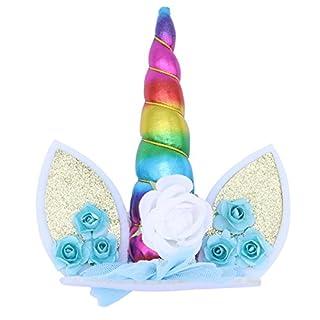 BESTOYARD Einhorn Cake Topper Kinder Baby Geburtstag Kuchendeckel Tortendekoration Picker (Bunt)
