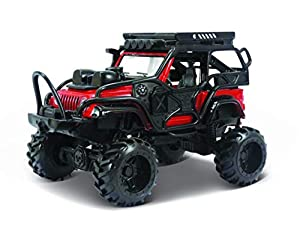 Maisto Desert Rebels 2003 Jeep Wrangler Rubicon Rojo 21208, Color Negro