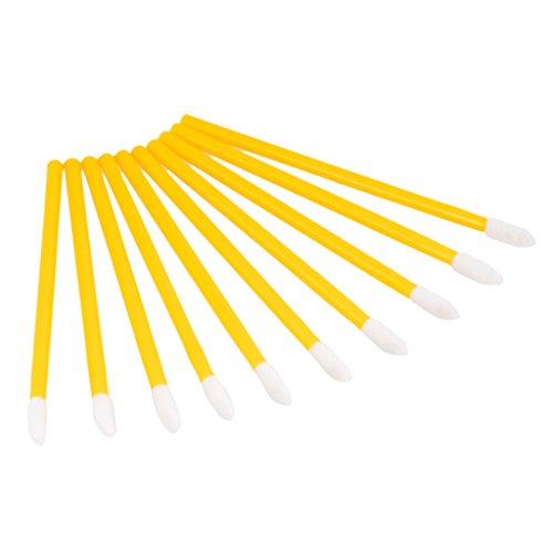 50 Lippenpinsel Einweg Lipgloss Pinsel Lippenstift Bürste Lip Brush Make Up Stab - Gelb