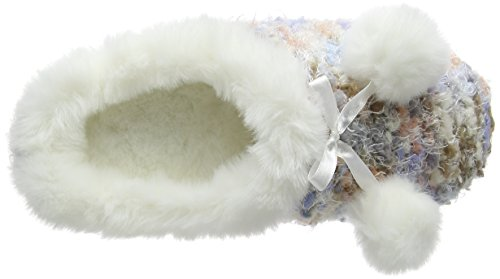 Totes - Totes Ladies Bobble Knit Mule Slipper, Pantofole Donna Multicolore (Multicolore (Multi))