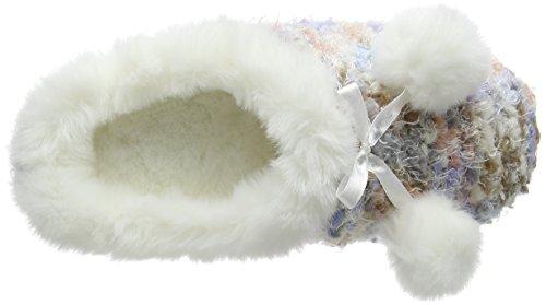 Totes - Totes Ladies Bobble Knit Mule Slipper, Pantofole Donna Multicolore (Multicolore (Multi))