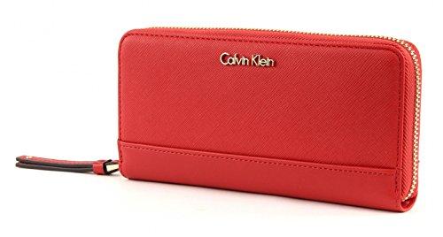 Calvin Klein M4rissa Large Zip Around Lipstick Red