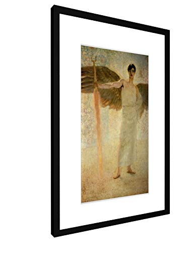 weewado Franz von Stuck - Der Wächter des Paradieses - 1889-40x60 cm - Bild mit Rahmen/Gerahmtes Poster - Kunstdruck - Wandbild - Kunst, Gemälde, Foto, Bild - Alte Meister/Museum (Gerahmte Poster Kunst)