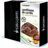 CASCAJARES - Carrilleras de Cerdo con salsa de Oporto. 4 carrilleras de cerdo y un sobre de salsa por estuche. Peso neto aproximado 400 g