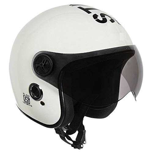 O2 Open Face White Star1969 with Poly Carbonate Tinted Visor