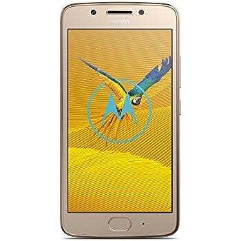 "Lenovo Moto G G5 4G 16GB Oro - Smartphone (12,7 cm (5""), 16 GB, 13 MP, Android, 7, Oro) - Versión Alemana"
