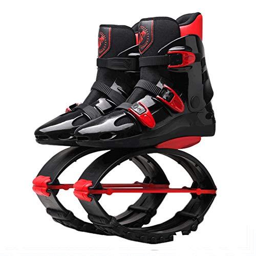 YLOVOW Zapatos de Salto de Canguro Zapatos de Rebote Zapatos espaciales Botas para Correr antigravedad, Black1,S