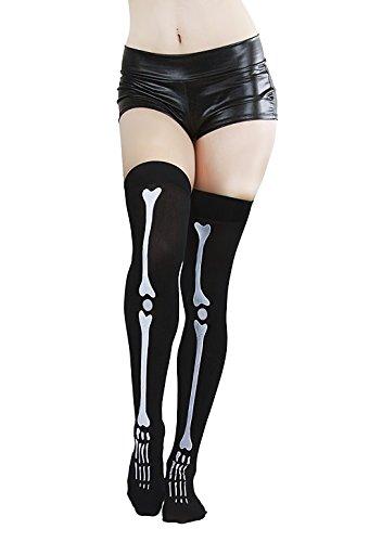Skeletthandschuhe Hexenhandschuhe Halloween Knochen Handschuhe Skelett Teufel Kostüm für Erwachsene Party Hexen (Kostüme Accessoires Teufel)
