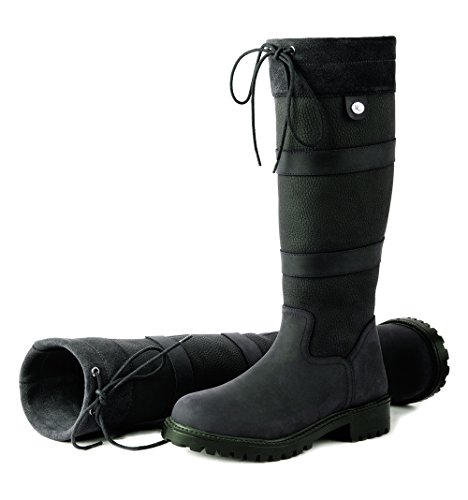 Rhinegold 'Elite' Brooklyn Equestrian Long Leather Country Boots Great for Stable Dog Walking Test