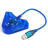 TRIXES Adaptateur de manettes PS2 à PS3, 2 ports USB