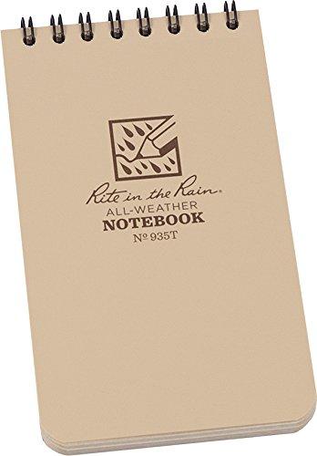 Rite in the Rain Universal Pocket Top Spiralen-Notizbuch–Grün/Grün, 7,6x 12,7cm, Pocket Notebook, Tan/Tan