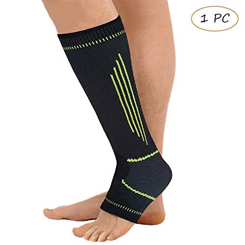 Houlife Damen & Herren Knöchel Unterstützung Calf Sleeve Erholung Performance Abgestufte Kompression Strümpfe mit offner Spitze 1 Stück
