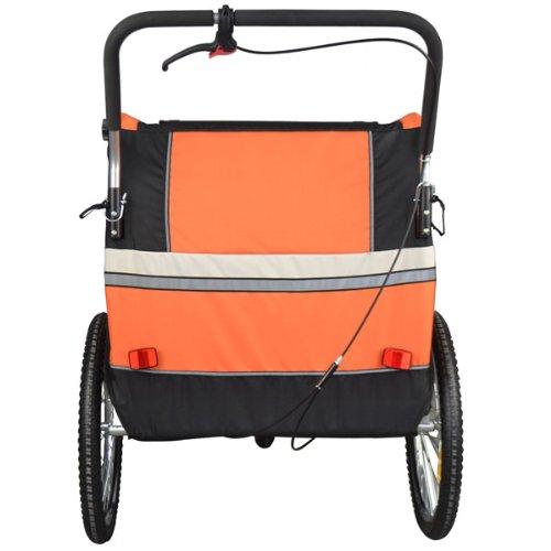 Vollgefederter Kinderfahrradanhänger mit Joggerfunktion Fahrradanhänger Exclusiv 504S-03 - 2