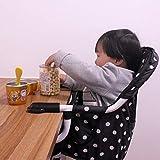 VICKI chairs Tronas para Bebés Jane, Silla de Gancho Plegable Almacenamiento Portátil Fast Table Chair para 5-36 Meses Bebé (20 kg) (Color : Black, Size : 38x23x40cm(15x9x16inch))