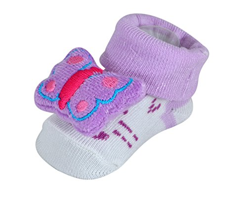 Instabuyz Shoes | Booties For Baby Boys | Girls | Kids | Children | Made Of Soft Cotton Fabric Material | Light Weight Comfortable Wearable For Infants | Designer Trendy Printed Fashionable Stylish | Perfect For Occasions Like Birthdays Parties Festivals Sandals | All Weather Sandels For Babies | Age Group 6-18 Months | Purple Bug  available at amazon for Rs.140