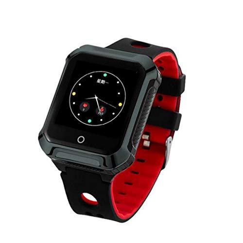 ZMJY Smart Watch für ältere, Bluetooth-Armbanduhr, Smart-Armbanduhr mit GPS-Standort SOS-Digitaluhr für Männer, Frauen, Sport, Fitness,Black (Standort Für)