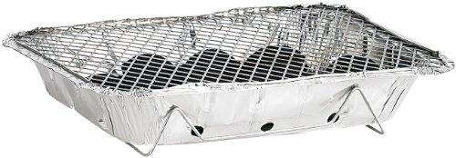 41PsX3a3M0L - infactory Einmal Grill: Handliche Einweggrills im 2er-Pack, mit 500 g Kohle und Anzünder (Einweg-Grill)