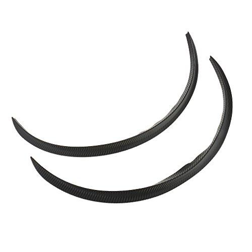 Rädern Haartrockner Auf (Sharplace 1x Paar 44cm Auto-Rad-Augenbrauen-Aufkleber aus Gummi , Aftermarket-teil - Schwarze Carbon Fiber Texture)