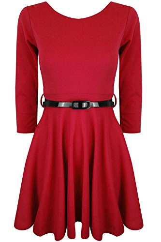 Oops Outlet Damen Skater-Kleid Rot - Rot Outlet Unten
