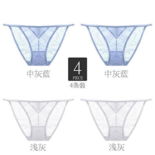 YMFIE Onorevoli Mutandine in pizzo trasparente di cintura net trasparente intimo sexy 4 F